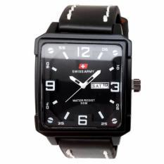 Harga Hemat Swiss Army Jam Tangan Pria Leather Strap Sa 6656