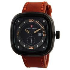 Spesifikasi Swiss Army Jam Tangan Pria Leather Strap Sa 8806Lb Coklat Paling Bagus