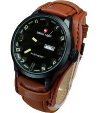 Promo Swiss Army Jam Tangan Pria Leather Strap Sa 8821Lb Kuning Dki Jakarta