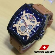 Jual Swiss Army Jam Tangan Pria Leather Strap Sa 9097 Da Murah Dki Jakarta