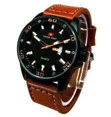 Beli Swiss Army Jam Tangan Pria Leather Strap Sa1606Wlb Online Terpercaya