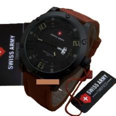 Promo Swiss Army Jam Tangan Pria Original Strap Kulit Cokelat Tua Sa 3098 H Swiss Army Terbaru