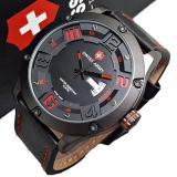 Harga Swiss Army Jam Tangan Pria Original Strap Kulit Hitam Sa6381 Blackred Yang Bagus