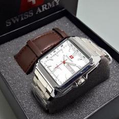 Harga Swiss Army Jam Tangan Pria Paket Kotak Sa0099 Silver White Baru