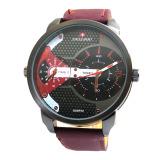 Spesifikasi Swiss Army Jam Tangan Pria Sa 620 Jarum Merah Kulit Dual Time Terbaik