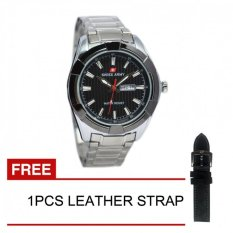 Review Toko Swiss Army Jam Tangan Pria Silver Dial Hitam Strap Stainless Sa1102Mp
