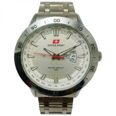 Situs Review Swiss Army Jam Tangan Pria Silver Dial Putih Strap Stainless Sa5071M