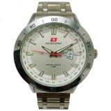 Spesifikasi Swiss Army Jam Tangan Pria Silver Dial Putih Strap Stainless Sa5071M Bagus