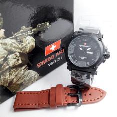 Jual Swiss Army Jam Tangan Pria Stainless Sa 57687 P Satu Set
