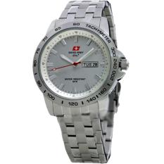 Harga Swiss Army Jam Tangan Pria Stainless Steel Strap Sa 4446 Sd Silver Yg Bagus