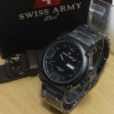 Swiss Army Jam Tangan Pria – Stainless Steel Strap – SA - 9098H - Hitam Abu