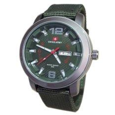 Spesifikasi Swiss Army Jam Tangan Pria Strap Canvas Hijau Sa5057M Yang Bagus Dan Murah