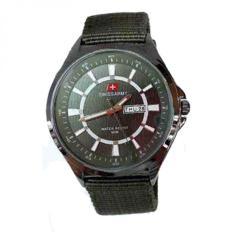 Beli Swiss Army Jam Tangan Pria Strap Kanvas Sa 5096 Ch Hijau Murah Jawa Barat