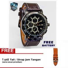 Beli Swiss Army Jam Tangan Pria Strap Kulit Coklat Tua Sa 9100 6 L Free Tali Jam Yang Bagus