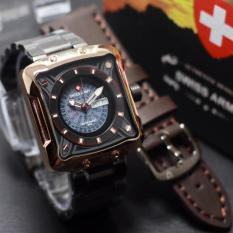 Swiss Army Jam Tangan Pria Strap Stainless Sa 0090 Promo Beli 1 Gratis 1