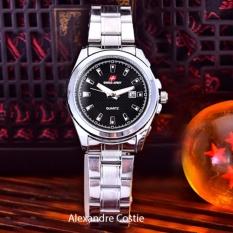 Situs Review Swiss Army Jam Tangan Wanita Body Silver Black Dial Stainless Steel Band Sa 5386L Tgl Sb