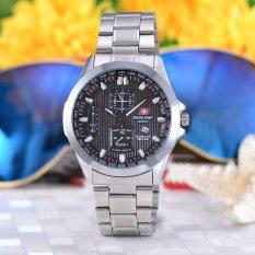 Spesifikasi Swiss Army Jam Tangan Wanita Body Silver Black Dial Stainless Steel Band Sa Rt 5389L Sb Online