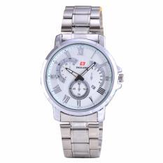 Iklan Swiss Army Jam Tangan Wanita Body Silver White Dial Stainless Steel Band Sa 5385A L Tgl Sw