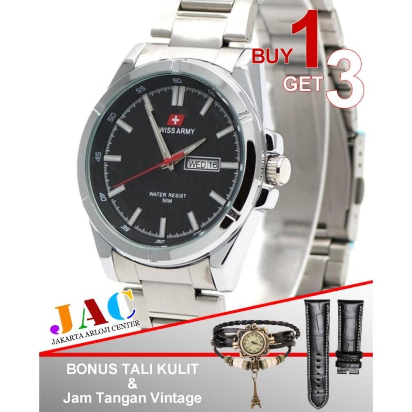Swiss Army - Jam Tangan Wanita - SA5225JAC - Fiture Date Active - Buy 1 Get