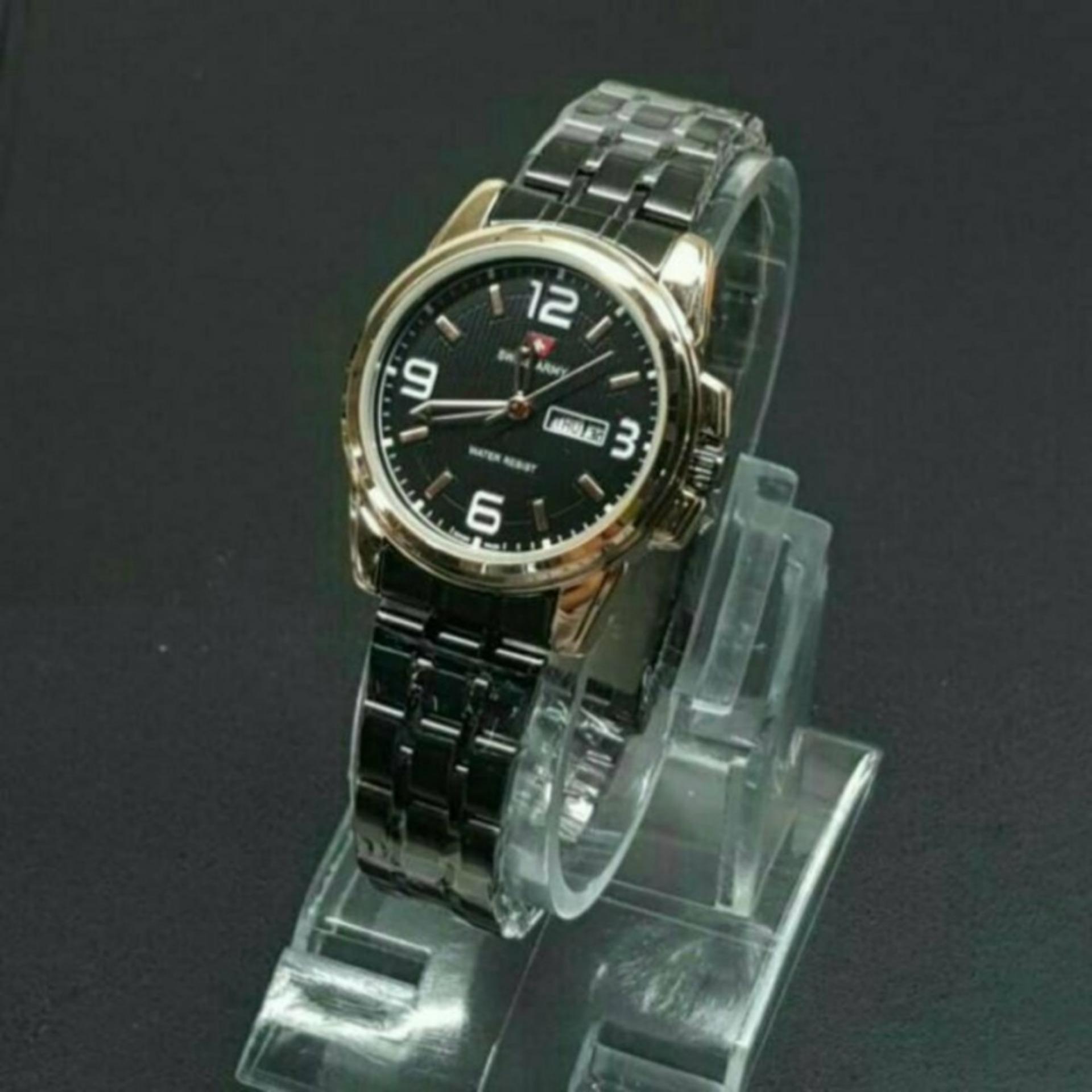 Price Checker Swiss Army - Jam Tangan Wanita - Stainless - SA 13231LBK pencari harga -