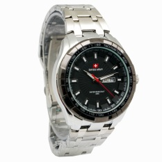 Review Pada Swiss Army Jam Tanganpria Silver Strap Stainless Steel Fr K8108 S