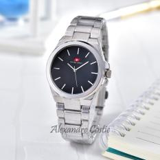 Swiss Army - Jam Tangan Wanita - Body Silver - Black Dial - Stainless Steel Band - SA-RT-6661-L-SB