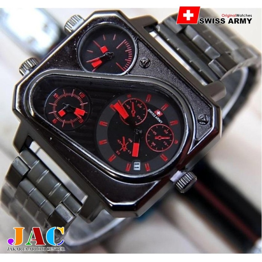 ... Sport Digital Anti Air WR 50M Original. IDR62,900.00. Swiss Army Kotak - Tiga Waktu - Jam Tangan Pria - Jam Tangan Fashionable - Full
