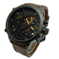 Spesifikasi Swiss Army Leather Strap Jam Tangan Pria Sa 4020 Dark Brown Baru