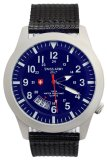 Review Swiss Army Men S Jam Tangan Pria Biru Tali Kanvas Sa2868Msbl