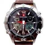 Beli Swiss Army Men S Sport Combo Jam Tangan Pria Kulit Coklat Tua Sa 1101 B Swiss Army Asli