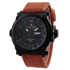 Jual Swiss Army Mens Elegant Cokelat Stainless Kulit Sa 7169 Art Swiss Army Branded