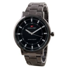 Swiss Army Mens Elegant - Hitam - Stainless - SA 5108 FB