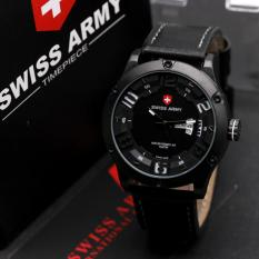 Jual Swiss Army Mens Elegant Leather Strap Swiss Army Murah