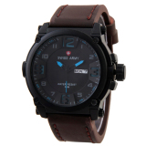 Model Swiss Army Mens Elegant Sa 7169 Cokelat Stainless Kulit Terbaru