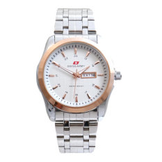 Toko Swiss Army Men S Jam Tangan Pria At 0080 M Body Bezel Silver Ring Gold Stainless Steel Back Termurah