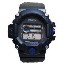 Review Swiss Army Men S Jam Tangan Pria Digital 001 List Biru Rubber