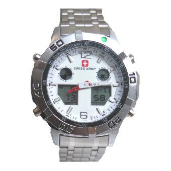 jam tangan pria swiss army dual time Swiss Army Men's - Jam Tangan Pria - Dual