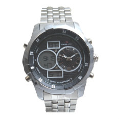 Toko Swiss Army Men S Jam Tangan Pria Dual Time Silver Sa 1518 M Bezel Hitam Stainless Steel Back Murah Indonesia