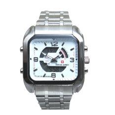 Diskon Swiss Army Men S Jam Tangan Pria Dual Time Silver Sa 8004 M Bezel Silver Stainless Steel Back Branded