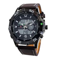 Spesifikasi Swiss Army Mens Jam Tangan Pria Strap Kulit Dual Time Cokelat Sa442 Yang Bagus