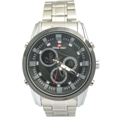 Spesifikasi Swiss Army Men S Sa012Mbb Jam Tangan Pria Hitam Analog Digital Stainless Steel Merk Swiss Army