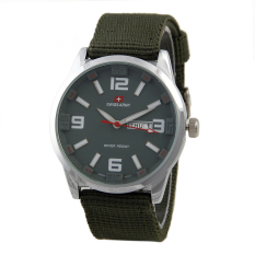 Swiss Army Mens Sport Hijau Kanvas Sa 5053 Ss Army Original