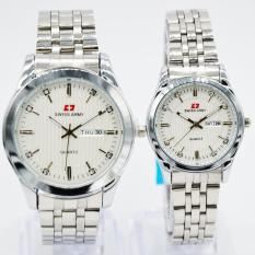 Swiss Army New Arrival - Jam Tangan Couple - Stainless Steel SA-4124 silver