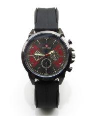 Ulasan Mengenai Swiss Army Original High Quality Jam Tangan Pria Hitam Putih Strap Karet Sak 04 D
