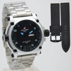 Beli Swiss Army Original Sa7169 Jam Tangan Swiss Army Pria Paket Leather Strap Terbaru Free Tali Kulit Secara Angsuran