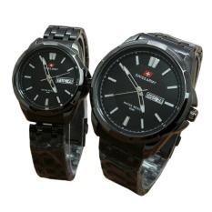 Jual Swiss Army Pasangan Atau Couple Jam Tangan Pria Dan Wanita Full Black Strap Stainless Sa5090 Bo Antik