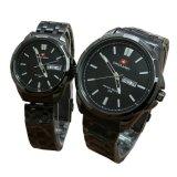 Jual Swiss Army Pasangan Atau Couple Jam Tangan Pria Dan Wanita Hitam Strap Stainless Sa5090 Branded Original