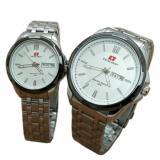 Promo Swiss Army Pasangan Atau Couple Jam Tangan Pria Dan Wanita Silver Putih Strap Stainless Sa 5091 Sb Di Jawa Barat