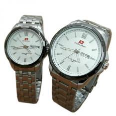 Jual Beli Swiss Army Pasangan Atau Couple Jam Tangan Pria Dan Wanita Silver Putih Strap Stainless Sa 5091 Sb Di Jawa Barat