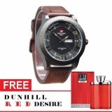 Swiss Army Premium Class Men S Watch Jam Tangan Casual Pria Tali Kulit Leather Strap Water Resistant Bonus Dunhil Perfume Merah Desire Red Murah